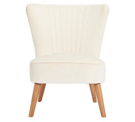 Collection Alana Velvet Shell Back Chair - Natural