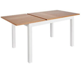 Clifton Ext Oak Veneer 4-6 Seater Table- Two Tone