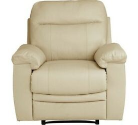 New Paolo Manual Recliner Chair - Ivory