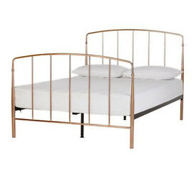 Collection Aurelie Small Double Bed Frame - Rose Gold
