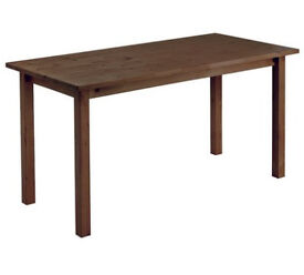 already built up Ashdon Solid Pine 6 Seater Dining Table - Walnut Effect