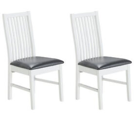 HOME Paris Pair Of Dining Chairs - Two Tone