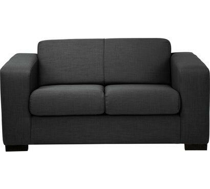 9fb36d4977b Hygena New Ava Compact 2 Seater Fabric Sofa - Charcoal