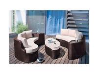 6 Seater Rattan Effect Sofa Set