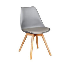 Hygena New Charlie Dining Chair - Grey