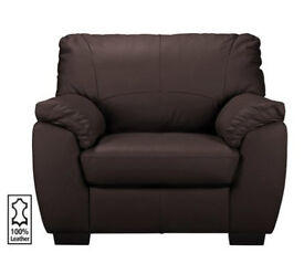 Milano Leather Chair - Chocolate
