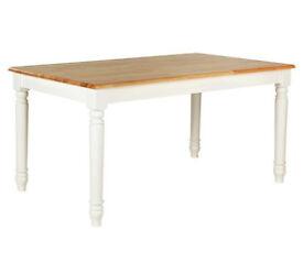 Heart of House Amberley Oak Veneer 6 Seater Table - Two Tone