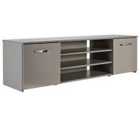 Hygena Hayward 2 Door Wide TV Unit - Grey Gloss
