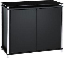 Matrix 2 Door Glass Sideboard - Black
