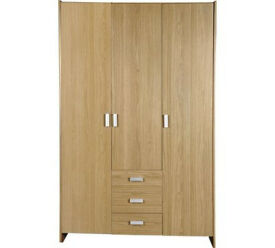 HOME Capella 3 Door 3 Drawer Wardrobe - Oak Effect