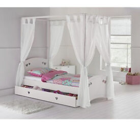 Collection Mia Single 4 Poster Bed Frame - White