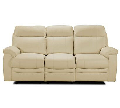 New Paolo 3 Seater Manual Recliner Sofa - Ivory