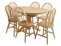 Home Kentucky Extendable Table & 6 Chairs - Natural