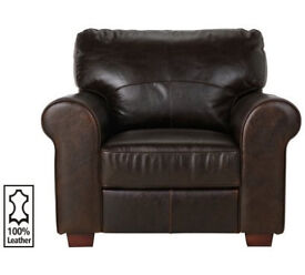 Heart Of House Salisbury Leather Chair - Dark Brown