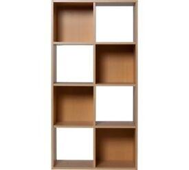 HOME Squares 8 Cube Storage Unit - Beech Effect