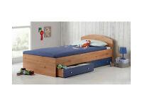 HOME Malibu Single Bed Frame - Pine & Blue