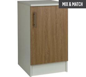 Athina 500mm Fitted Kitchen Base Unit - Oak