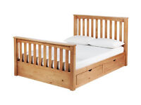 Collection Maximus Small Dbl Drawer Bed Frame - Oak Stained