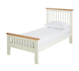 Aubrey Single Bed Frame - Two Tone