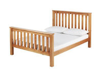 Maximus Double Ottoman Bed Frame - Oak Stained