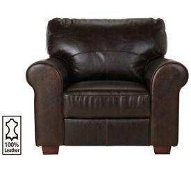 Heart Of House Salisbury Leather Chair - Dark Brown