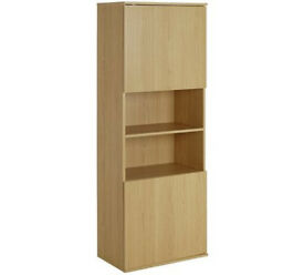 Hygena Modular 2 Door Oak Tall Wall Cabinet
