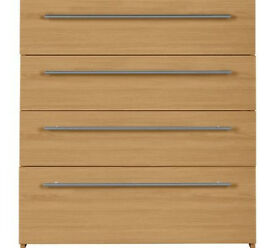 Hygena Atlas 4 Drawer Chest - Oak Effect