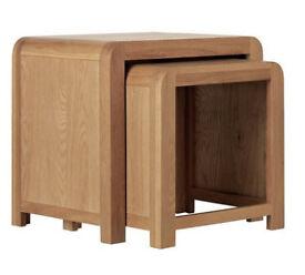 Heart Of House Novara Nest Of 2 Oak Veneer Tables