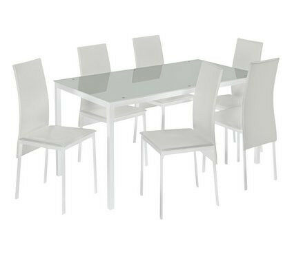 Hygena Lido Gl Dining Table 6 Chairs White In Beeston West Yorkshire Gumtree