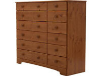 HOME Nordic 6+6 Drawer Chest - Pine