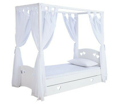 Home Mia Single 4 Poster Bed Frame White
