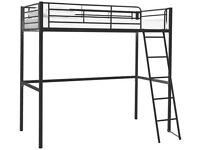 Kids Metal High Sleeper Bed Frame - Black