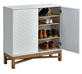 Hygena Zander 2 Door Shoe Cabinet - White
