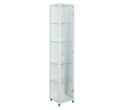 1 Door Glass Display Cabinet - White