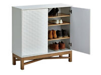 Hygena Zander 2 Door Shoe Cabinet - White