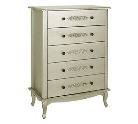 Sophia 5 Drawer Chest - Champagne.