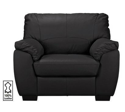 Milano Leather Chair - Black