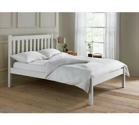 Silbury Double Bed Frame - Whitewash Effect