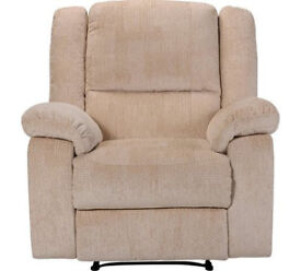 Shelly Fabric Manual Recliner Chair - Beige