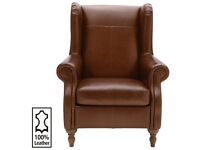 Heart of House Argyll Leather Armchair - Tan