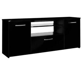 Hygena Hayward 2 Door 1 Drawer Low Sideboard - Black