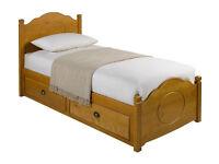 Sherington 2 Drawer Single Bed Frame - Pine