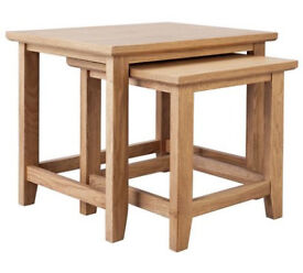 Islington Nest Of 2 Oak Veneer Tables