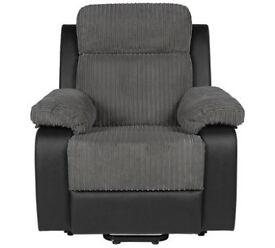 Bradley Riser Recline Fabric Chair - Charcoal