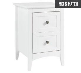 Camborne 2 Drawer Bedside Chest - White