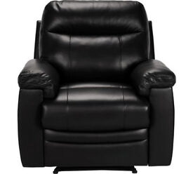 New Paolo Manual Recliner Chair - Black