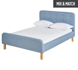 Hygena Ashby Double Bed Frame - Sky Blue