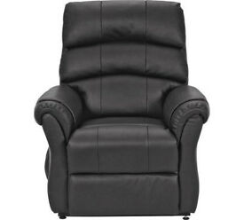 Warwick Leather Powerlift Recliner Chair - Black