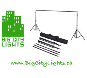 BRAND NEW! - Backdrop support kit - 2 stands and Crossbar!