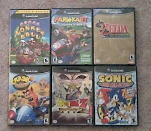 6 Gamecube games for sale.